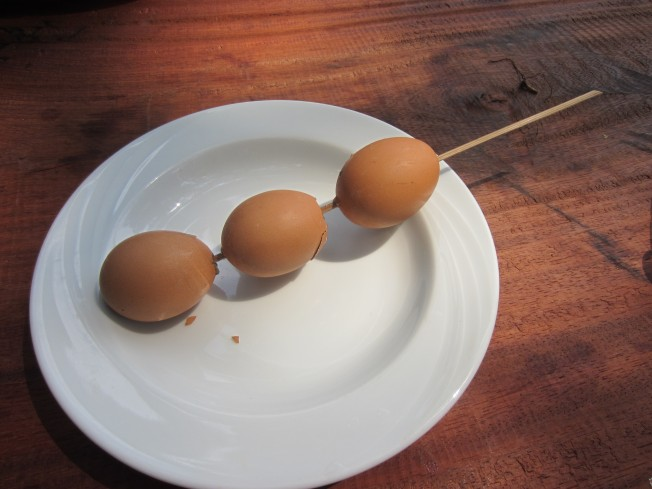 Eggs on a stick