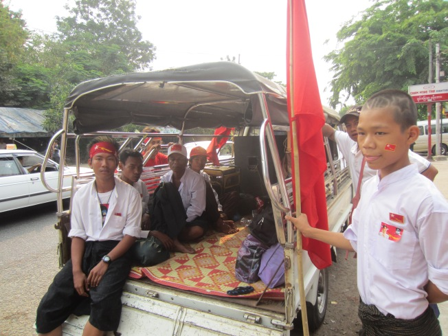 Myanmar Elections - NLD Headquarters