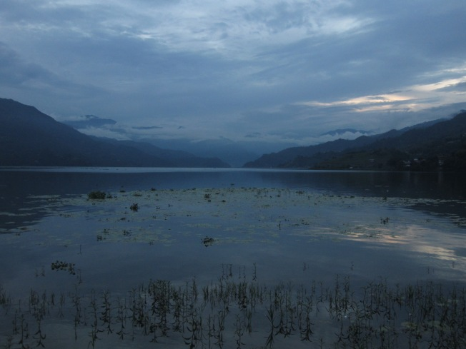 A beautiful view near the water in Pokhara
