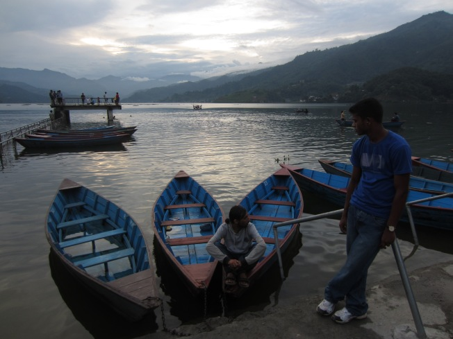 Chilling near the water in Pokhara