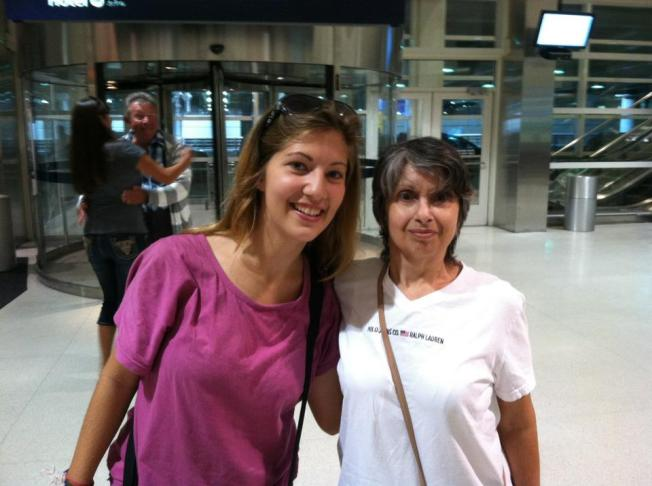 Me and Mom after my airport arrival from Asia