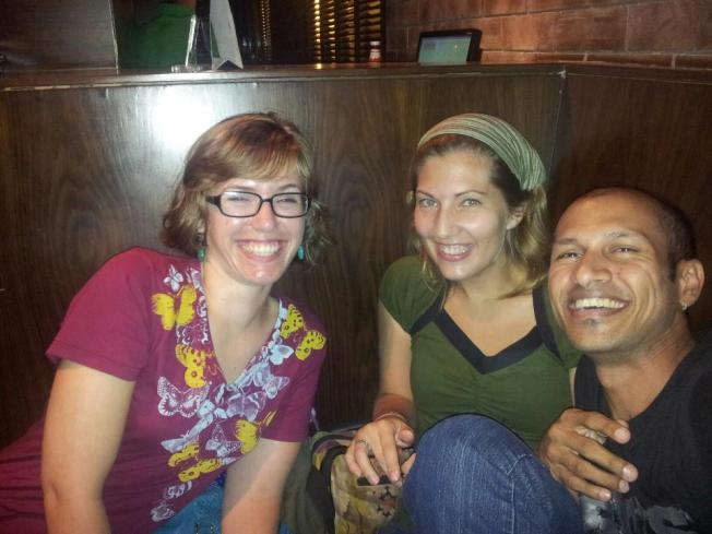 Leah, Naren and I hanging out in Mumbai before my departure