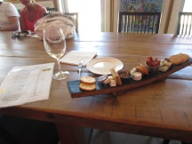 Cheese plate at La Vierge